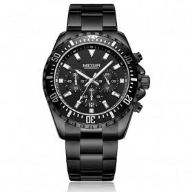 MEGIR Jam Tangan Analog Pria - 2064 - Black