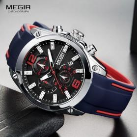 MEGIR Jam Tangan Analog Pria - M2063 - Black - 2