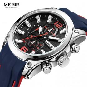 MEGIR Jam Tangan Analog Pria - M2063 - Black - 3