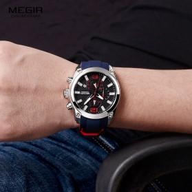 MEGIR Jam Tangan Analog Pria - M2063 - Black - 4