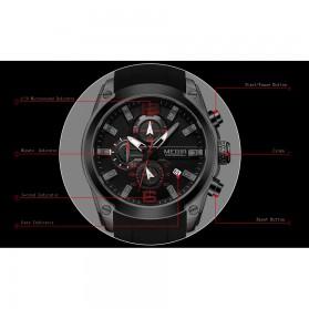 MEGIR Jam Tangan Analog Pria - M2063 - Black - 6