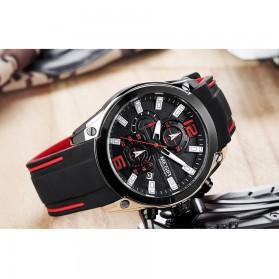 MEGIR Jam Tangan Analog Pria - M2063 - Black - 8