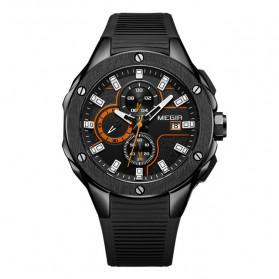 MEGIR Jam Tangan Analog Pria - 2053G - Black