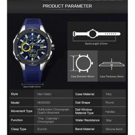 MEGIR Jam Tangan Analog Pria - 2053G - Black - 9