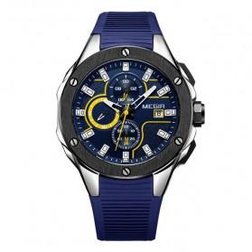 MEGIR Jam Tangan Analog Pria - 2053G - Blue - 1