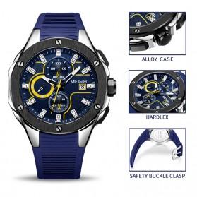 MEGIR Jam Tangan Analog Pria - 2053G - Blue - 2