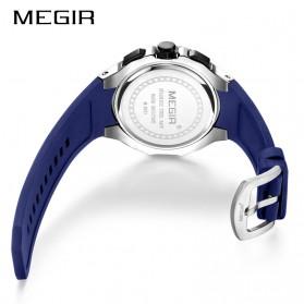 MEGIR Jam Tangan Analog Pria - 2053G - Blue - 3