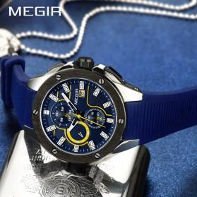 MEGIR Jam Tangan Analog Pria - 2053G - Blue - 4