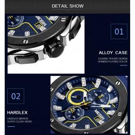 MEGIR Jam Tangan Analog Pria - 2053G - Blue - 5