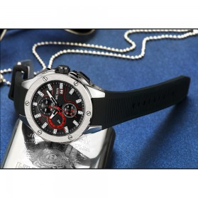 MEGIR Jam Tangan Analog Pria - 2053G - Blue - 8