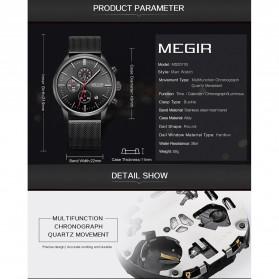 MEGIR Jam Tangan Analog Pria - 2011 - Silver - 5