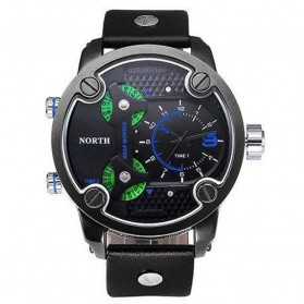 Trend Fashion Pria Terbaru - NORTH Jam Tangan Analog - 6001 - Blue