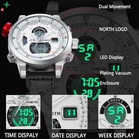 NORTH Jam Tangan Analog Digital Elegan - 6015-2 - White - 3