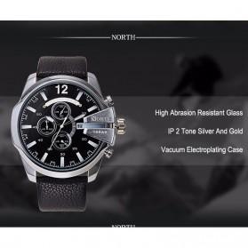 NORTH Jam Tangan Analog - 6002 - Black - 6