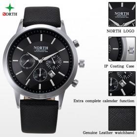 NORTH Jam Tangan Analog - 6009 - Black - 3