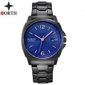 NORTH Jam Tangan Analog Kasual Stainless Steel - 7702 - Black/Blue
