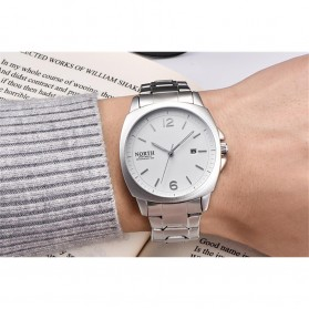 NORTH Jam Tangan Analog Kasual Stainless Steel - 7702 - White/Silver - 2