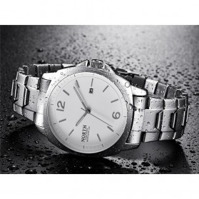 NORTH Jam Tangan Analog Kasual Stainless Steel - 7702 - White/Silver - 4