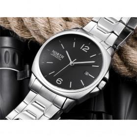NORTH Jam Tangan Analog Kasual Stainless Steel - 7702 - Silver Black - 3