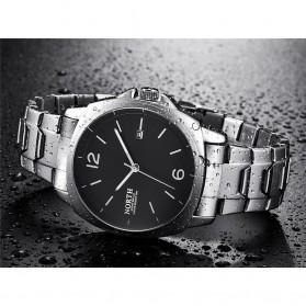 NORTH Jam Tangan Analog Kasual Stainless Steel - 7702 - Silver Black - 4