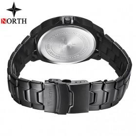 NORTH Jam Tangan Analog Kasual Stainless Steel - 7702 - Silver Black - 5