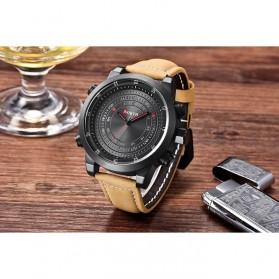 NORTH Jam Tangan Analog Kasual Leather Strap - 7716 - Black - 2