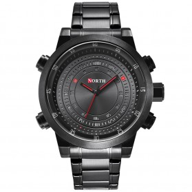 NORTH Jam Tangan Analog Kasual Stainless Steel - 7716 - Black