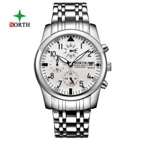 NORTH Jam Tangan Analog Kasual Stainless Steel - 7718 - White