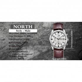 NORTH Jam Tangan Analog Kasual Stainless Steel - 7718 - White - 4
