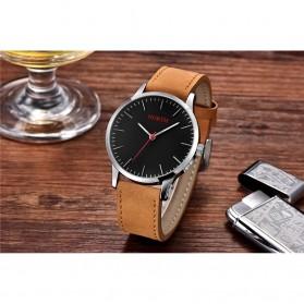 NORTH Jam Tangan Analog Kasual Leather Strap - 7719 - Brown/Black - 2