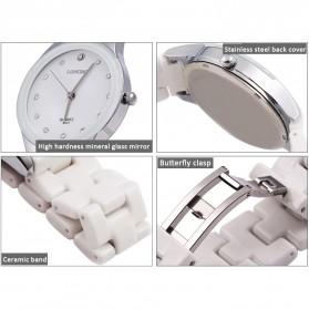 Longbo Jam Tangan Pria Luxury Ceramic - 8631 - White - 4