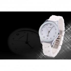 Longbo Jam Tangan Pria Luxury Ceramic - 8631 - White - 5