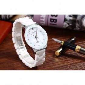 Longbo Jam Tangan Pria Luxury Ceramic - 8631 - White - 6