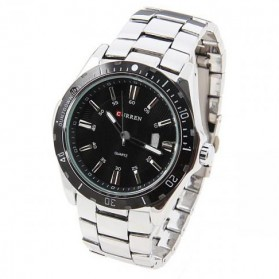 Curren Watch Jam Tangan Analog Pria - MK1 - Silver Black