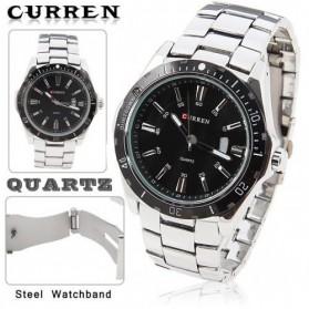 Curren Watch Jam Tangan Analog Pria - MK1 - Silver Black - 2