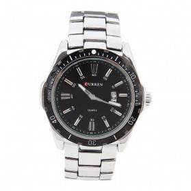 Curren Watch Jam Tangan Analog Pria - MK1 - Silver Black - 5