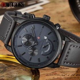Curren Watch Jam Tangan Analog Pria - MK2 - Black/Black - 2