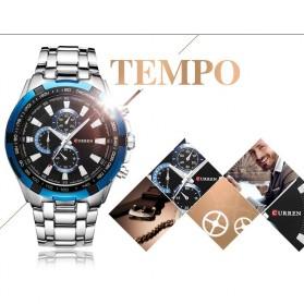 Curren Watch Jam Tangan Analog Pria - MK3 - Silver Black - 2