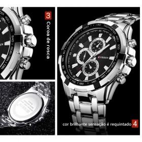 Curren Watch Jam Tangan Analog Pria - MK3 - Silver Black - 3