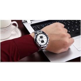 Curren Watch Jam Tangan Analog Pria - MK3 - Silver Black - 4