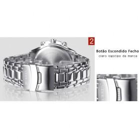 Curren Watch Jam Tangan Analog Pria - MK3 - Silver Black - 5