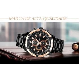 Curren Watch Jam Tangan Analog Pria - MK3 - Silver Black - 6
