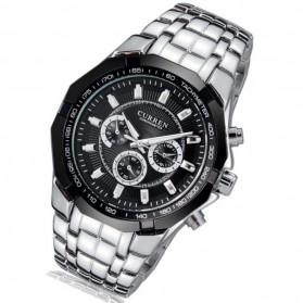 Curren Watch Jam Tangan Analog Pria - MK6 - Silver Black - 2