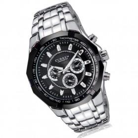 Curren Watch Jam Tangan Analog Pria - MK6 - Silver Black - 3