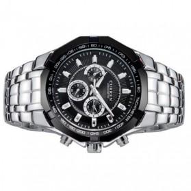Curren Watch Jam Tangan Analog Pria - MK6 - Silver Black - 4