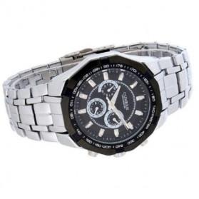 Curren Watch Jam Tangan Analog Pria - MK6 - Silver Black - 5