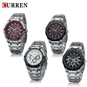 Curren Watch Jam Tangan Analog Pria - MK6 - Silver Black - 6