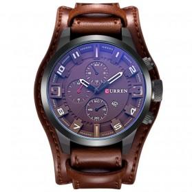 Curren Jam Tangan Kulit Analog Pria  - MK5 - Brown