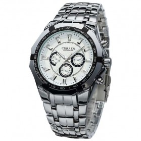 Curren Watch Jam Tangan Analog Pria - mk53 - White - 1