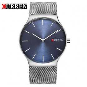 Curren Watch Jam Tangan Analog Pria - mk55 - Silver